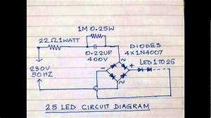 Led Home Night Lamp Circuits - 01