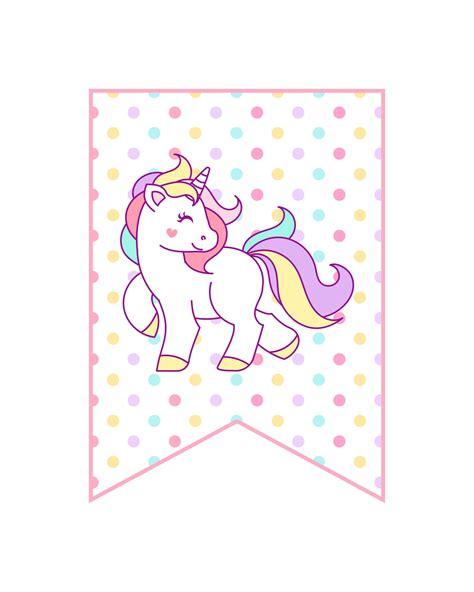 free printable unicorn decorations pack the cottage market