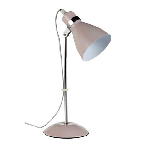 lampe de bureau en metal rose   cm pix maisons du monde