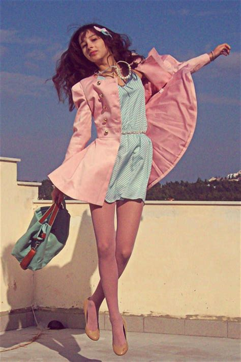 light pink tights aquamarine striped lulus dresses light pink romwe coats