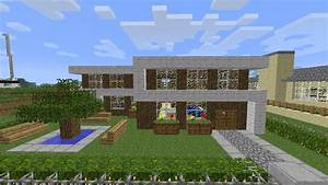 Small Wooden Modern House Minecraft Project