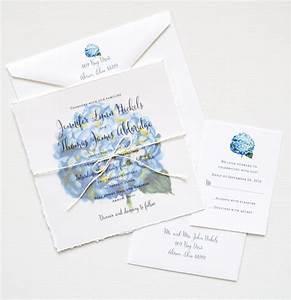 watercolor hydrangea invitation suite custom invitations With wedding invitations with blue hydrangeas
