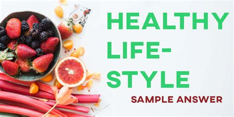 ielts writing task  sample answer healthy lifestyle general training    ielts