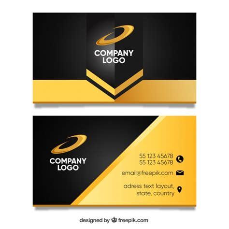 vector golden business card template