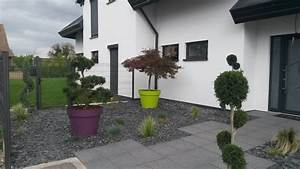 Aménagement extérieur jardin Colmar : terrasse bois, cloture