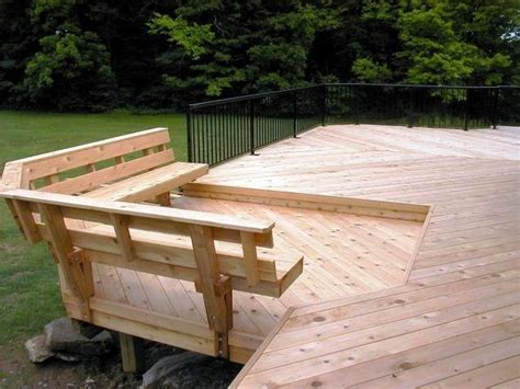 Deck Bench Design by Built In Deck Bench Plans Bench With Back Support