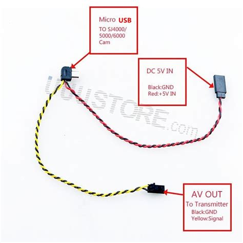 Av Cable To Usb Wiring Diagram by Micro Usb To Av Out Cable For Sj4000 Sj5000 Sj6000