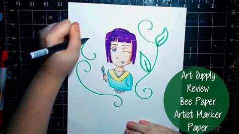Art Supply Review! Bee Paper Artist Marker Paper Youtube
