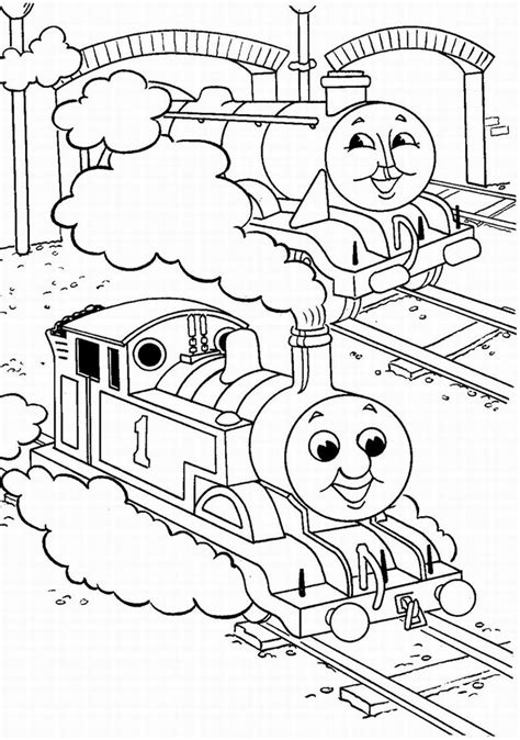 Coloring Kereta Api by The Tank Engine Coloring Pages Team Colors