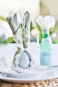 Pliage Serviette Lapin Simple : pliage serviette lapin un peu de gaiet sur la table de p ques ~ Melissatoandfro.com Idées de Décoration