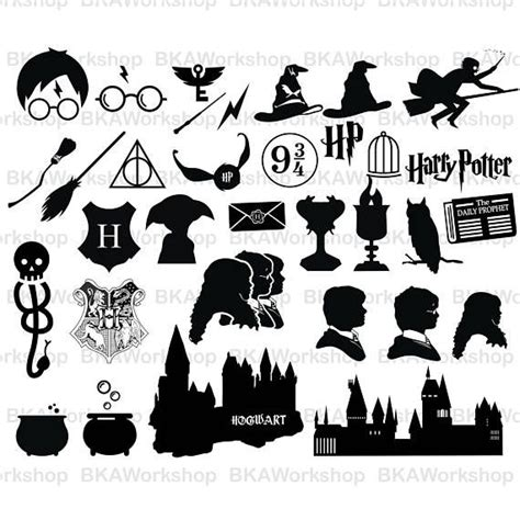 harry potter silhouettes harry potter art