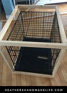 diy dog crate cover table 2 heather39s handmade life With dog crate table cover