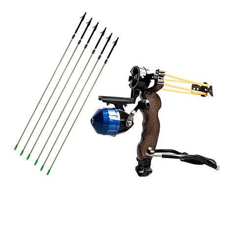 Bow Fishing Slingshot Catapult With 6pcs Fishing Carbon