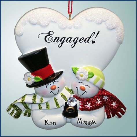 cute christmas ornaments wedding engagement and