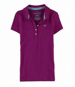 Aeropostale Womens A87 5 Button Polo Shirt | Womens ...