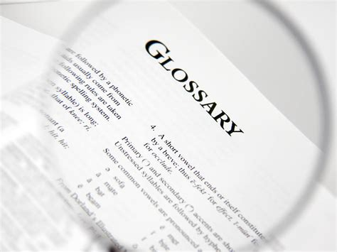 Glossary Of Terms Commonly Used In Primary Revision Medicinal Chemistry Glossary The Complete Resource
