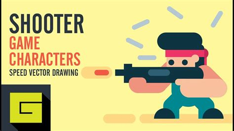 Speed Drawing How to draw Game Character Shooter Adobe