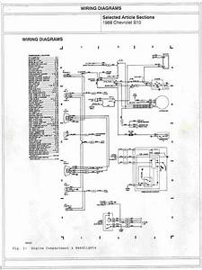 1988 Chevrolet S10 Engine Compartment And Headlights Wiring Diagrams