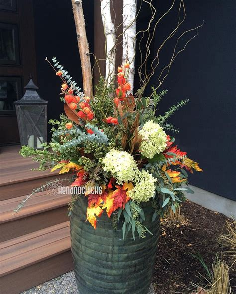 Fall Planters More Of An Arrangement But Oh Well