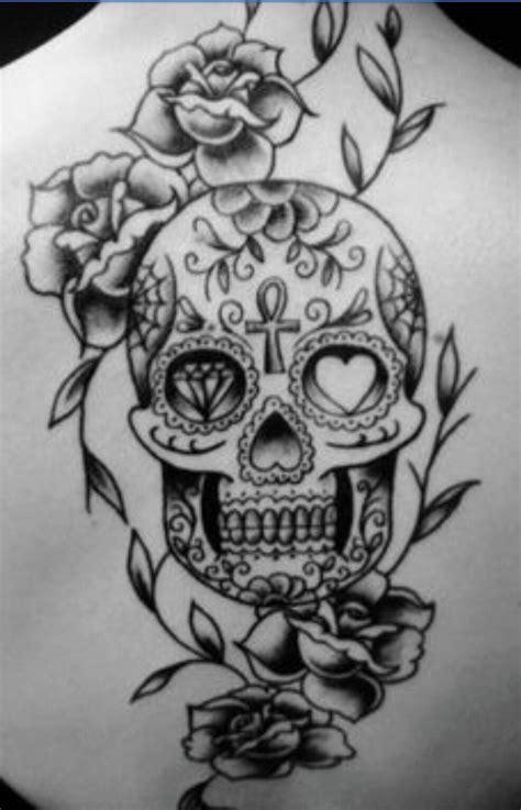 sugar skull roses skull art tattoos skull tattoos