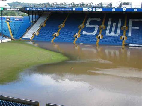 sheffield wednesdays hillsborough ground  flooded