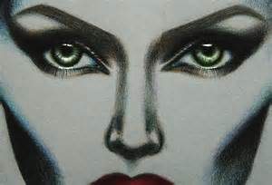 Maleficent Eyes Drawing