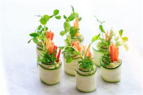 light hors d oeuvres vegan friendly canapés zucchini roll ups move nourish