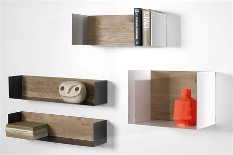 mensola metallo u mensola a parete universo positivo in legno e metallo