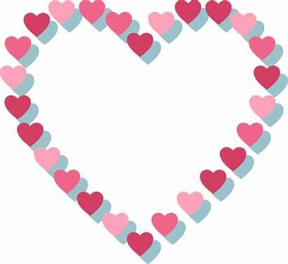 Heart Outline Pink Hearts Transparent Purepng Medium