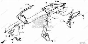 Honda Motorcycle 2014 Oem Parts Diagram For Radiator