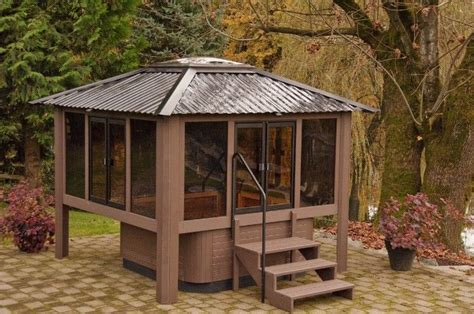 enclosed jacuzzi rooms outdoor projects outdoor gazebovisscher specialty gazebos