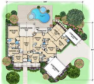 luxury bathroom floor plans luxury style house plans 3584 square foot home 1 story