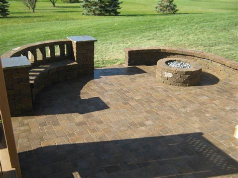 Deck and Patio with Fire Pit Design