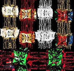 2 7m foil luxury garland large foil christmas xmas ceiling hanging decoration ebay