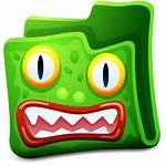 Folder Icon Monster Folders Icons Ico Clipart