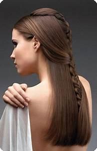Peinados para cabello lacio, largo, suelto y fáciles De Peinados