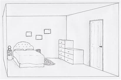 Drawing 3d Bedroom Bed Sketch Hand Layout