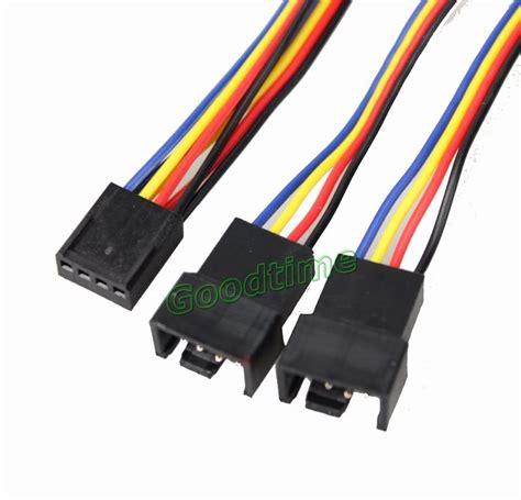 3 pin fan connector to 4 pin 100 pcs pc fan 4 pin to 2x 4pin 3pin pwm y