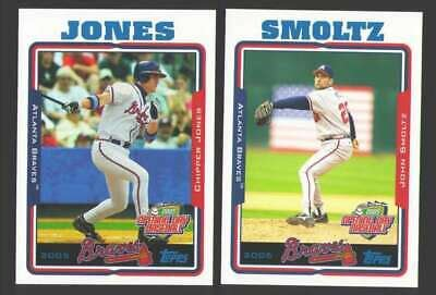 2005 Topps Opening Day - ATLANTA BRAVES Team Set | eBay