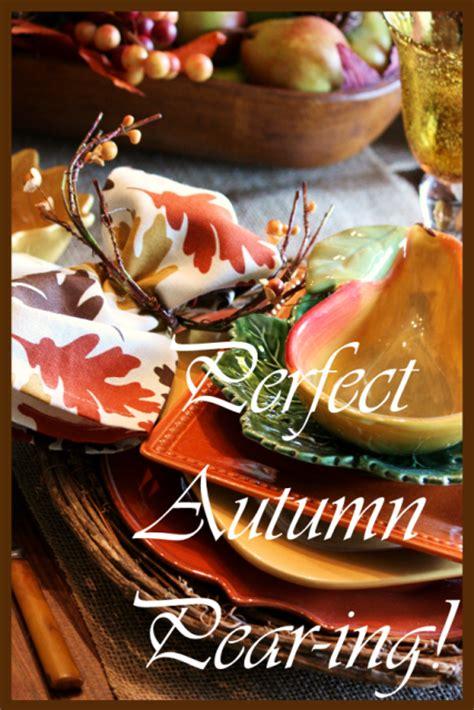 Stonegable Perfect Autumn Pearing Tablescape