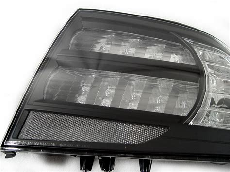 2004 05-2008 Acura Tl Type-s Black / Clear Tail Lights