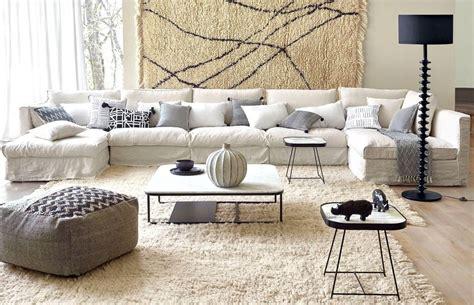 am pm canapé salon avec un canapé blanc 12 idées déco s 39 inspirer