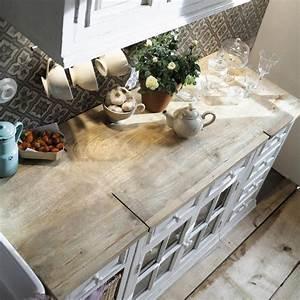 meuble bas de cuisine en manguier blanc l 40 cm eleonore With awesome meuble cuisine maison du monde 0 meuble haut de cuisine en manguier ivoire l 100 cm