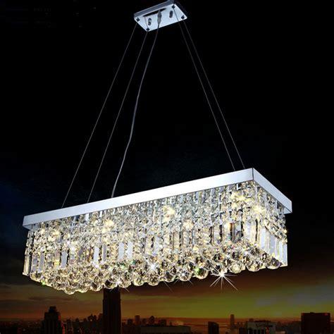 crystal ship hanging light long size rectangle crystal pendant light fitting crystal