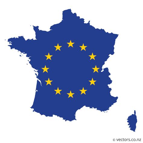 eu flag vector map  france vectors