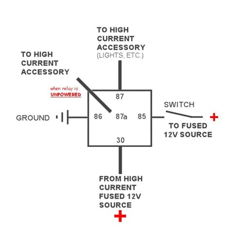 12v automotive relay 5 pin 40 mgi speedware
