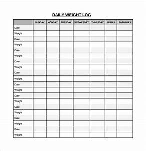 sample daily log template 15 free documents in pdf word With weight loss record template