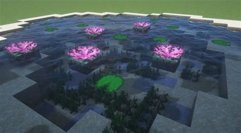 blooming lily pads detailcraft   minecraft architecture minecraft house designs