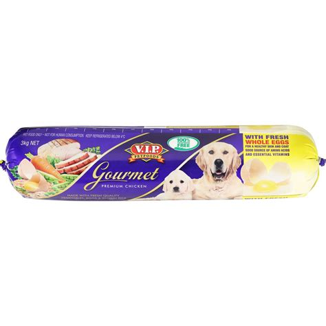 vip adult dog food roll gourmet chicken kg woolworths
