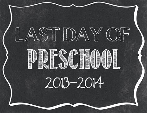 last day of preschool printable last day of school printables 802